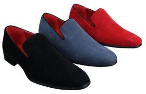318fe648ca7a3 Chaussure mocassin Homme en daim en couleur bleu rouge noir chic ...