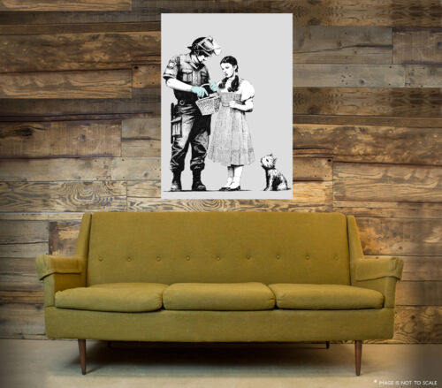 A1 - A5 SIZES AVAILABLE BANKSY STOP AND SEARCH GLOSSY WALL ART POSTER