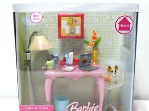 2006 Mattel Barbie Home Desk & Chair Bedroom Playset 20+ Pieces New