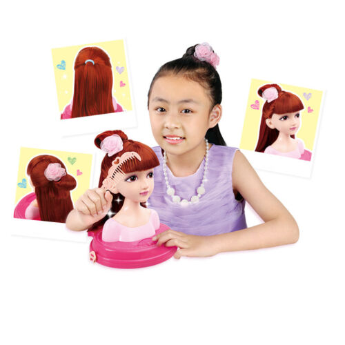 Doll Styling Head Hairdressing Play Set Hair Accessories Girls Beauty Toy