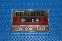 Realistic Low Noise C-120 Blank Cassette Tape (1) 44-604 (sealed)