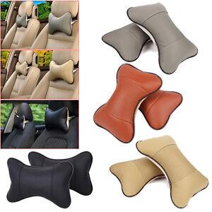 Universal Car Seat Neck Pillow Rest Cushion Headrest Comfortable Pad 2PCS Pillow