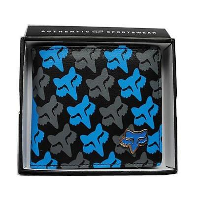 New with Box FOX Men/'s Surf PU Leather Wallet  VALENTINE Gift #131