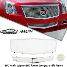 Fits 08 13 Cadillac Cts Stainless Steel Chrome Mesh Grille Grill Insert Combo Fits 2010 Cadillac Cts
