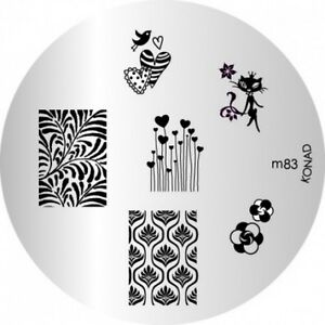 Konad Image Plate M83 Stamping Disc Diy Salon No1 Nail Art Uk