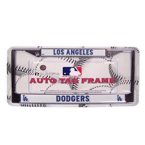 Mlb Los Angeles Dodgers Metal Chrome License Plate Frame