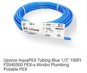 Uponor-AquaPEX-Tubing-Blue-1-2-034-100Ft-F3040500-PEX-a-Wirsbo-Plumbing-Potable-PEX