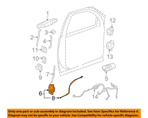 GM OEM Front Door-Lock Actuator Motor 22862025