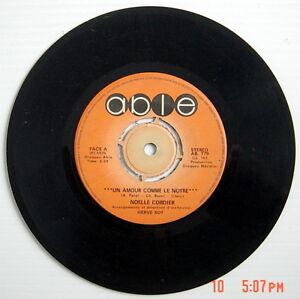 DISQUE-45-TOURS-DE-1975-DE-NOELLE-CORDIER-UN-AMOUR-COMME-LE-NOTRE-POUR-LUI