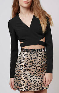Womens-Black-Plunge-V-Neck-Cut-Out-Side-Crop-Long-Sleeve-Top-6-12