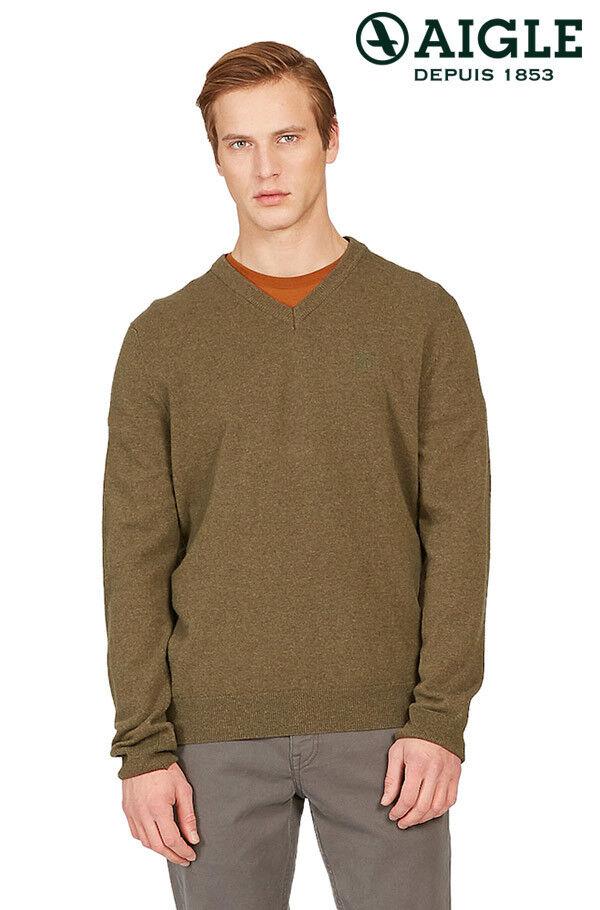 Aigle gonty suéter verde Nuevo