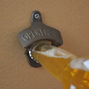 Vintage-Antique-Style-Bar-Pub-Beer-Soda-Top-Bottle-Opener-Wall-Mount-amp-Ring-TYGS