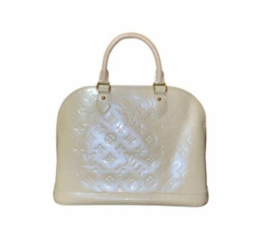 Louis Vuitton Blanc Corail Monogram Vernis Alma PM