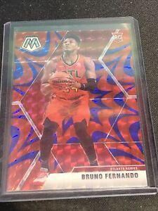2019-20 Mosaic Bruno Fernando Reactive Blue Prizm Rookie Card RC Atlanta Hawks