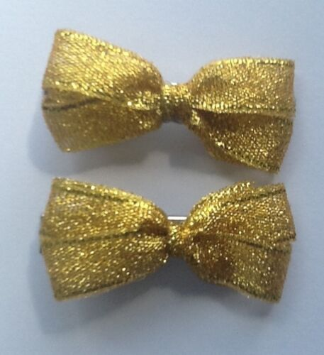 Yellow Gingham Plain Polka School Ribbon Hair Streamer Scrunchie Bobble//Band Bow