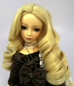 Doll-Wig-Giant-Curls-Blonde-BJD-Ball-Jointed-Doll-Size-7-8-9-10-NEW