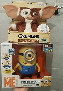 Lot De 2 Figurines Ghismo Gremlins Neca Electronic Dancing- & Minions