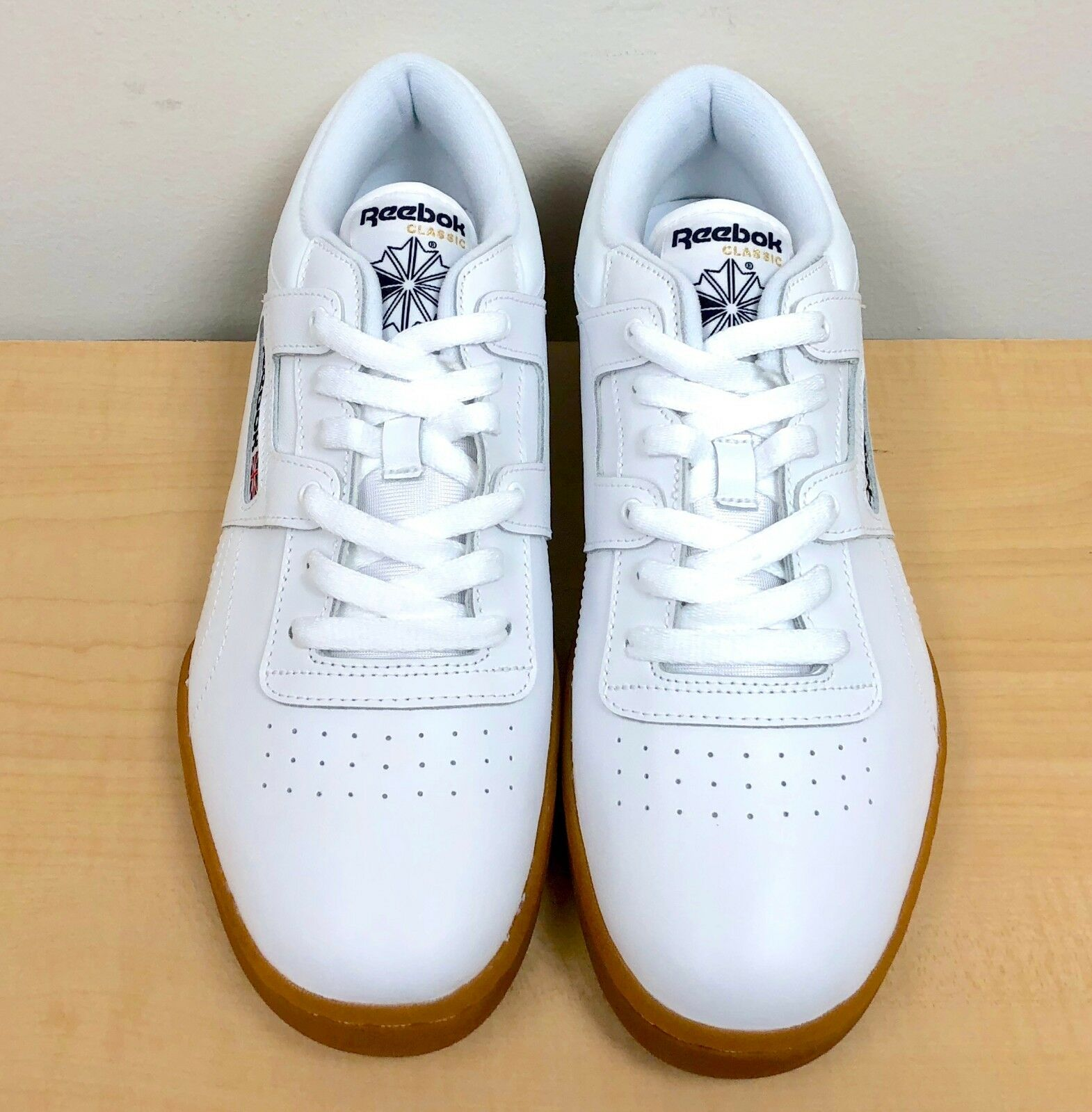 Mens Reebok Workout Low White Gum Brown 63978 US 9 for sale online ... a6efafdcd