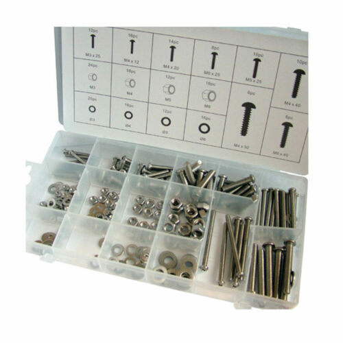 Hw037 224 Piece Stainless Steel Nuts & Bolts Set In Storage Case
