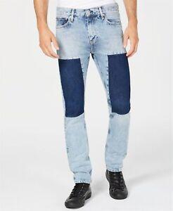 Calvin-Klein-Jeans-152681-Men-039-s-Slim-Fit-Patch-Jeans-Tash-Blue-Sz-31x32