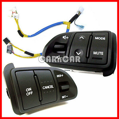 OEM KIA SPORTAGE CRUISE AUDIO CONTROL SWITCH SET+WIRING NON-HEATED 2011-2015
