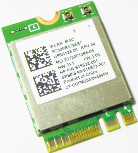 New HP 915623-001 RTL8822BE 802.11AC//ABGN BLUETOOTH 4.2 NGFF U98H133.00