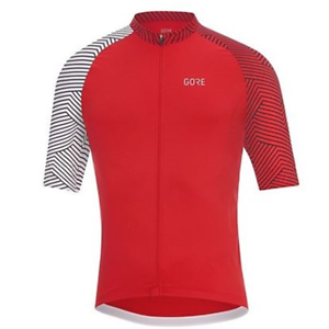 GORE MAILLOT MAC C5 OPTILINE RED WHITE 1001643501 Men's Clothing Jerseys