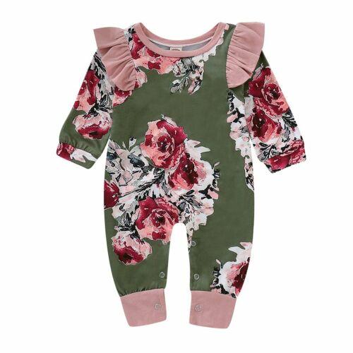 Newborn Infant Kids Baby Girl Boy Bodysuit Romper Jumpsuit Outfit Clothes Set
