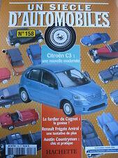 FASCICULE UN SIECLE D'AUTOMOBILES 158 CITROEN C3 ASTON MARTIN AUSTIN PORTARO