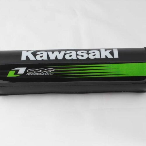 New Black Kawasaki Dense Foam Handlebar Protector Pad 7.9in Length
