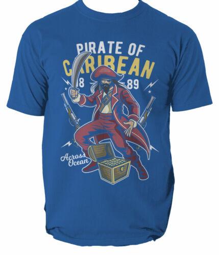 Pirate Caribean mens t shirt Anchor Sailor Jolly ship S-3XL