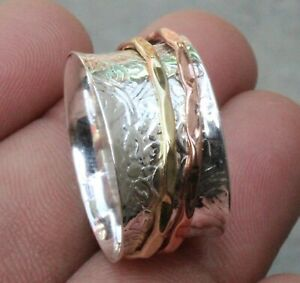 Solid 925 Sterling Silver Band /& Meditation Ring Handmade Jewelry All Size B-53