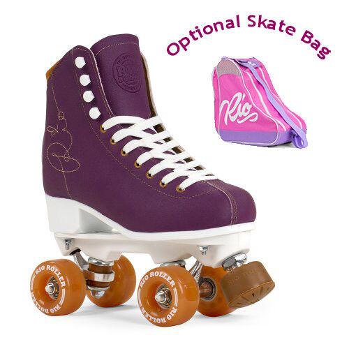 Rio Roller Signature Quad Roller Skates - lila - Optional Skate Bag