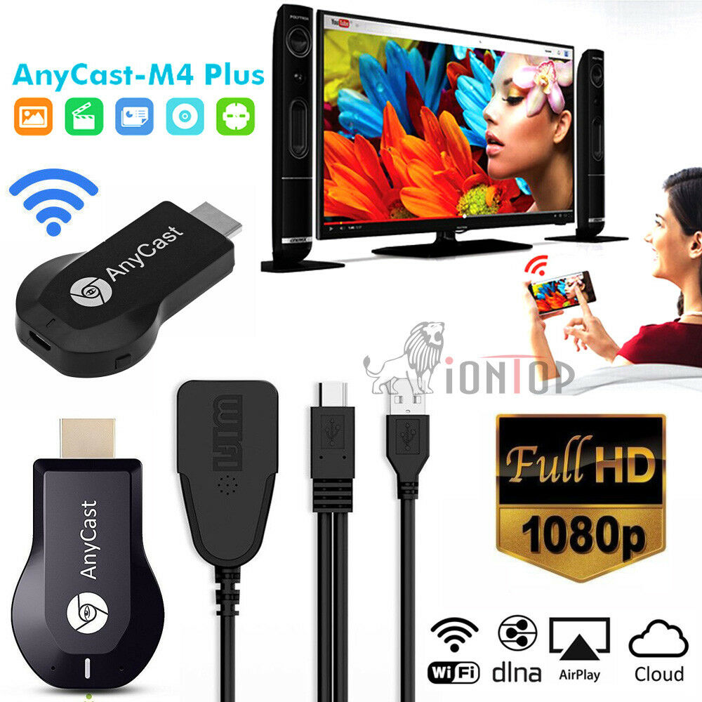 Anycast M4 Plus Wifi Display Dongle 1080p Hdmi Tv Dlna Airplay Stock Photo