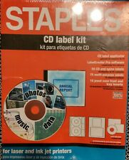Staples Cd Label Kit Applicator Software Labels And Jewel Case Inserts