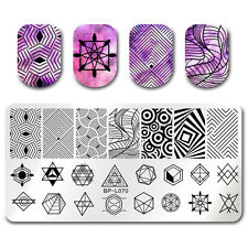 BORN PRETTY Nail Art Stamp Image Plate Geometry Figure Design Manicure Stencil