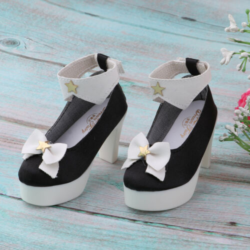 1//3 Fashion Bowknot High Heels Shoes for BJD SD 60cm Dolls Clothes DIY Accs