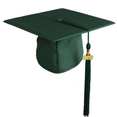 2020 Graduation Cap Matte Adult Unisex For High School College Black With Tassel