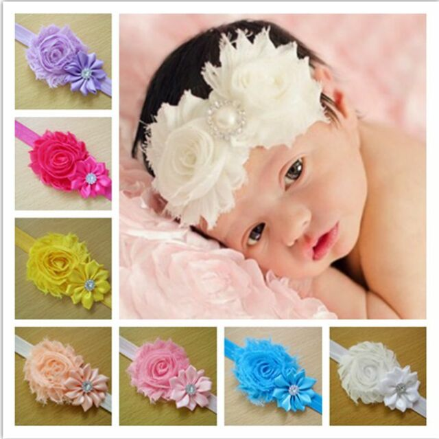 Wholesale 10PCS Girl Newborn Baby Toddler Infant Flower Headband Hair Bow Band