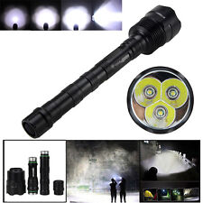 Trustfire Powerful 3T6 6000Lm 3xCREE XM-L T6 LED Tactical Flashlight Torch Lamp