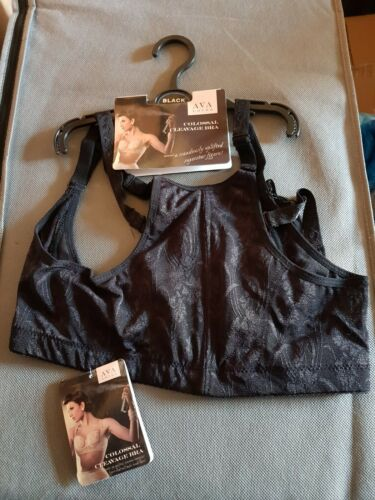 AVA LOVES Colossal Cleavage Push Up Bra in black uk size 20