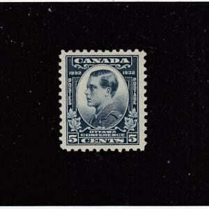 CANADA-MK4678-193-VF-MH-5cts-1932-PRINCE-OF-WALES-DULL-BLUE-CAT-VAL-10