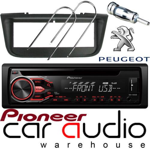 Peugeot 406 Pioneer CD MP3 USB AUX Reproductor de Radio Estéreo Coche Ámbar /& Kit De Montaje