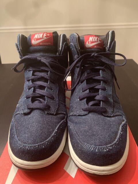 "best loved cb07e 73554 Nike Dunk High Premium ""French Football Federation Pack"" Denim Sz12 Kith  Supr"