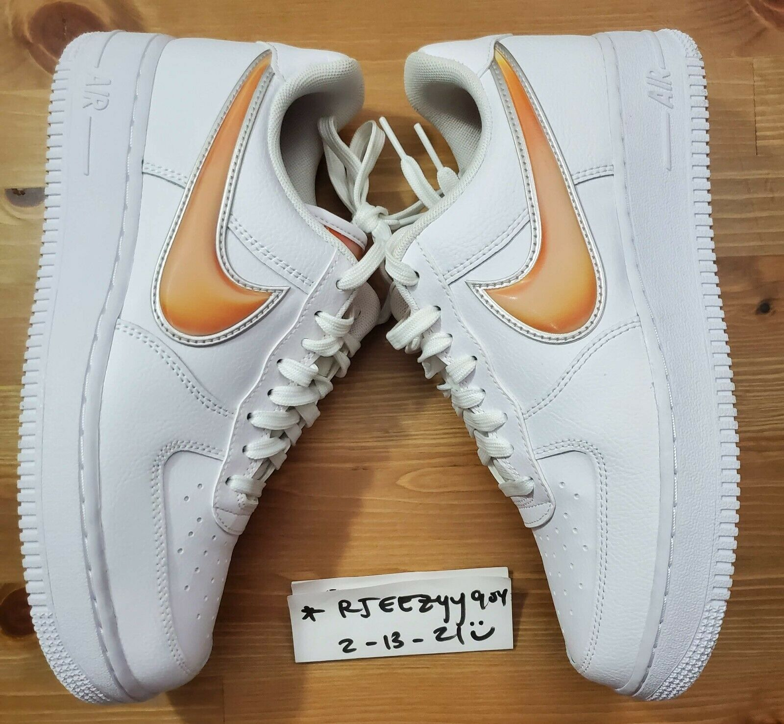 Size 7.5 - Nike Air Force 1 Low Oversized Swoosh - AO2441-102 for ...