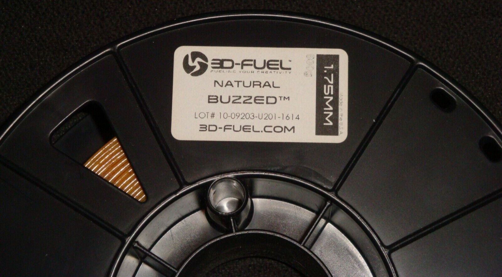 3D Fuel Natural Buzzed 1.75mm Printing Filament - Made in USA Spool