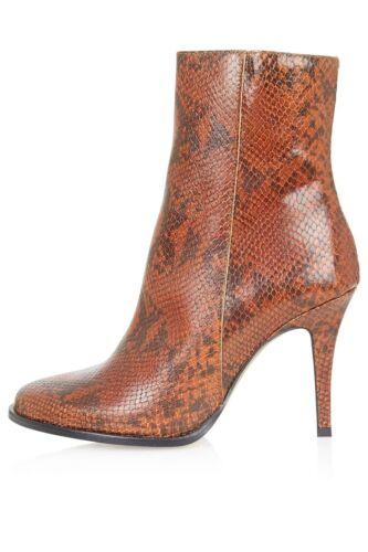 Stivaletti da caviglia Uk4 pelle marrone Donna in Uk3 Topshop xRxSwrHqd