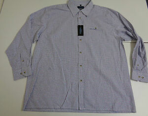 01b10855f3 La imagen se está cargando Carson-Cumbria-Informal-Azul-de-cuadros-camisa- XXL-