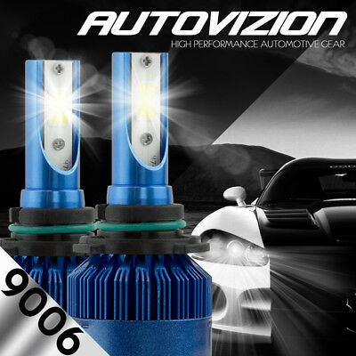 AUTOVIZION LED HID Headlight kit 9006 White for 2005-2016 Mitsubishi Lancer
