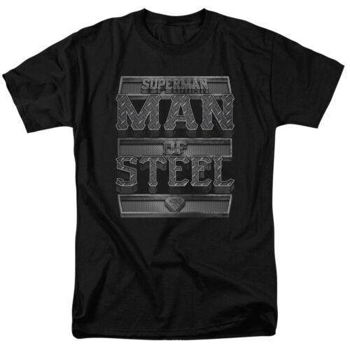 Superman Steel Text T-Shirt DC Comics Sizes S-3X NEW